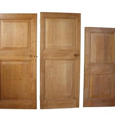 Three 1930s oak doors