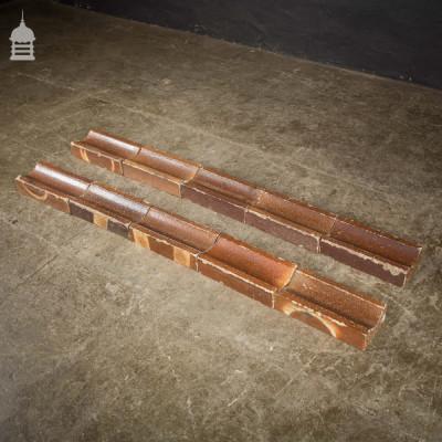 Batch of 96 Brown Salt Glazed Gully Drain Bricks