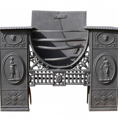 Georgian Cast Iron ' Carron' Hob Grate