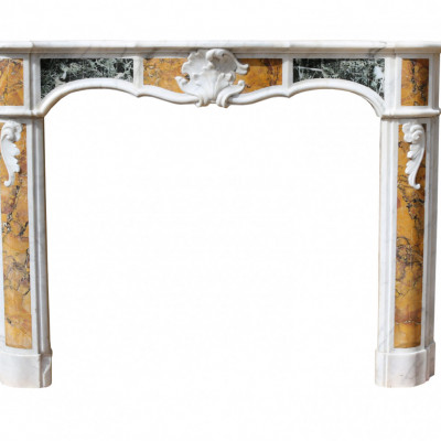Louis Xv Marble Fireplace Circa 1770