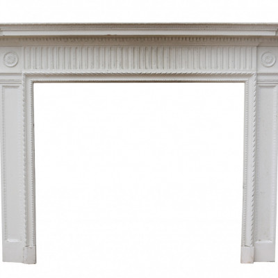 Victorian Painted Pine And Gesso Fire Surround