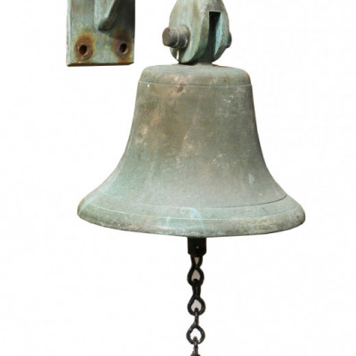 Antique Bronze Bell With Mounting Bracket