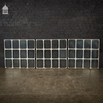 Set of 3 Victorian Cast Iron Window Frames with Tudor Rose Detail
