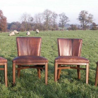 set of 4 leather chairs