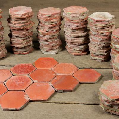 Salernes Tomette Terracotta Hexagonal Tiles