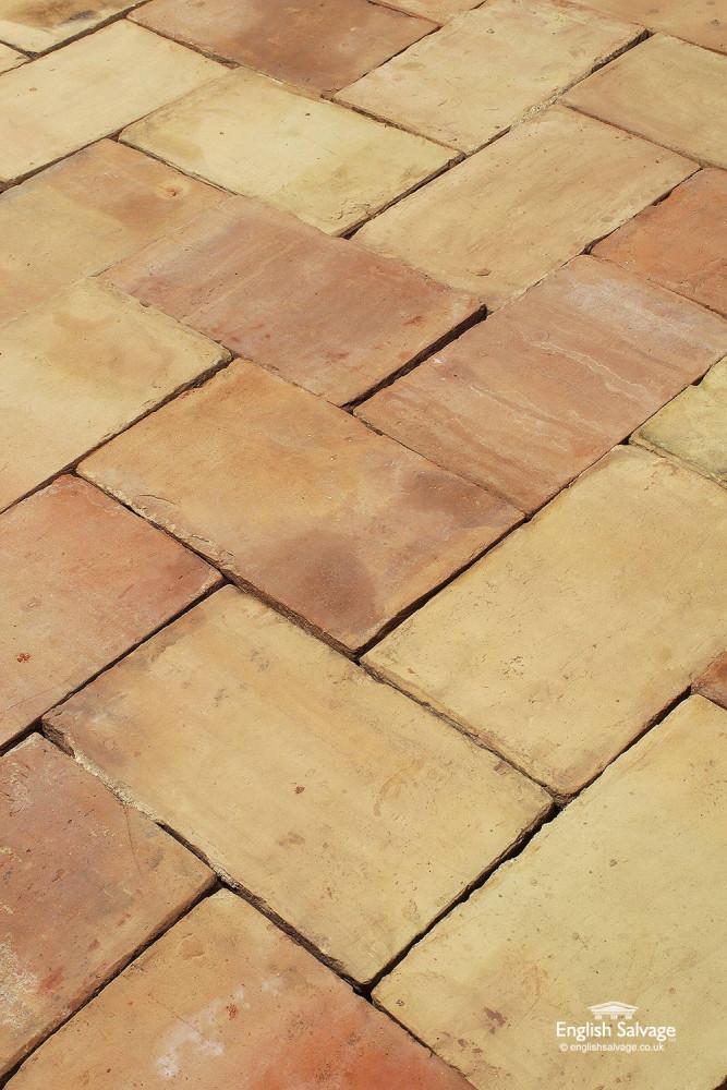 For Sale Reclaimed Old Buff Ceramic Floor Tiles Salvoweb Uk