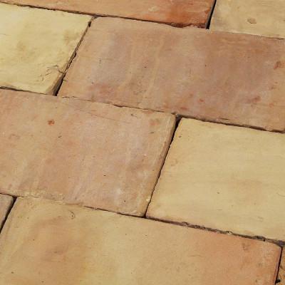 Reclaimed Old Buff Ceramic Floor Tiles
