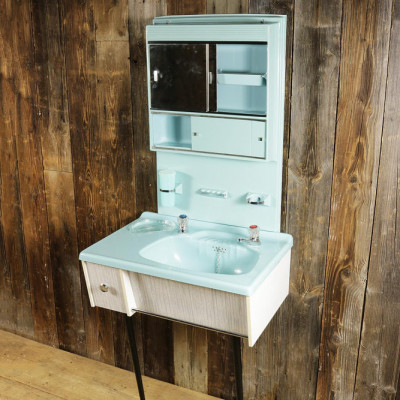 Original 50's Basin Cabinet Full Height Unit