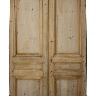 A pair of antique French pine double doors