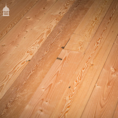 Batch of 12 Square Metres of 7 Inch Wide Columbian Pine Floor Boards