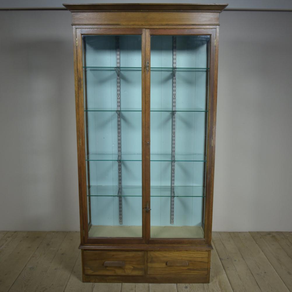 Oak Museum Display Cabinet