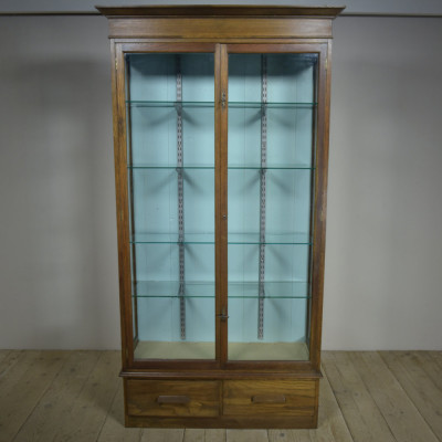 Oak Museum Display Cabinet