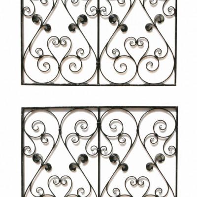 Pair Of 19th Century Wrought Iron Panels / Railings