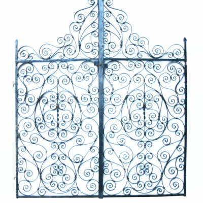 Pair Of Late 19th Century Wrought Iron English Garden Gates