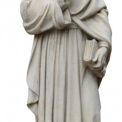 Late 19th Century English Carved Limestone Statue Of A Scholar