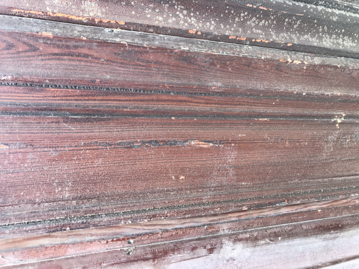 Moulded pitch pine panelling