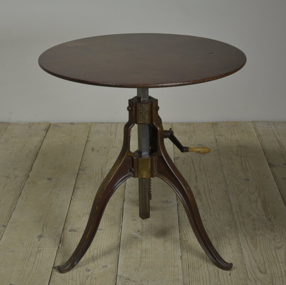 Antique Industrial Occasional Table -Meyrowitz Base