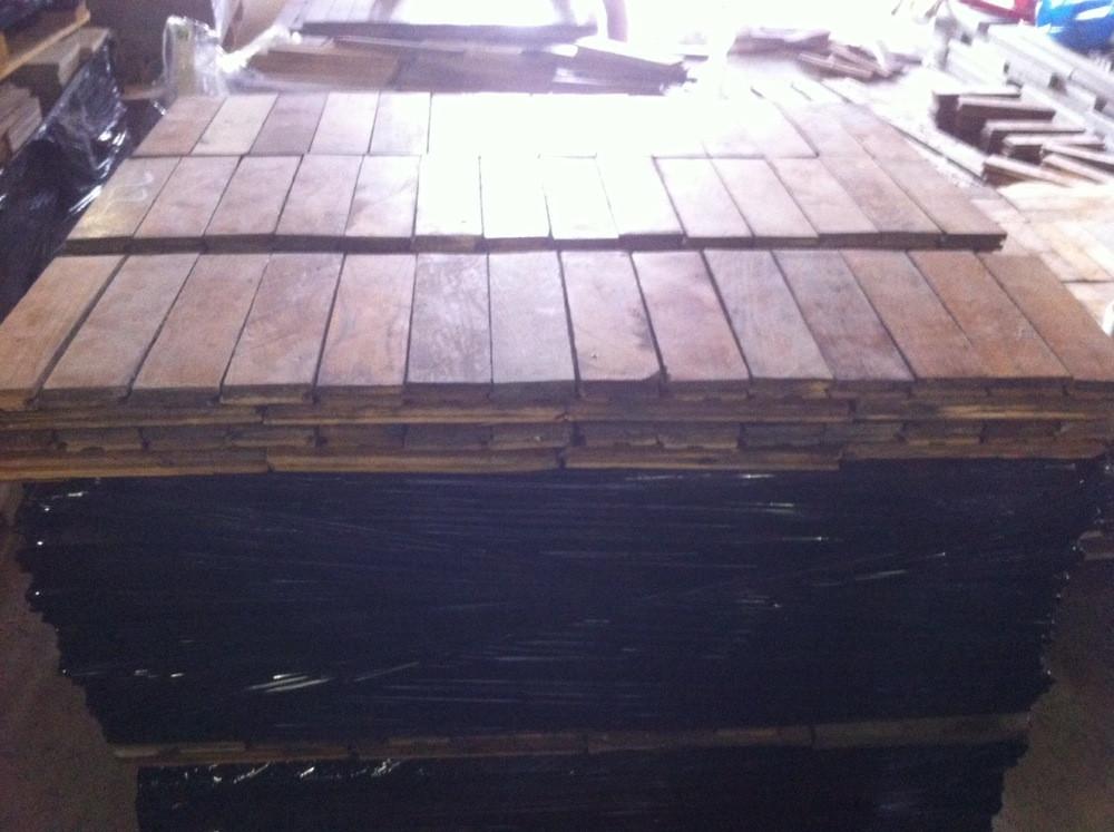 Reclaimed french oak heringbone parquet flooring