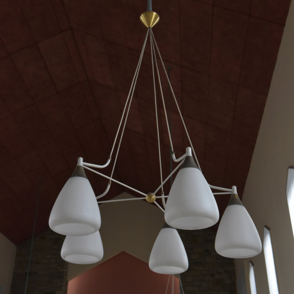 Large 1950s Chandeliers