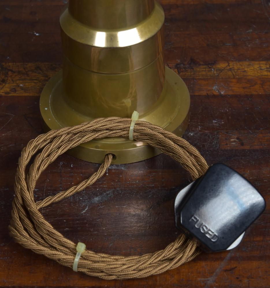 Unusual Bronze Antique Table Lamp