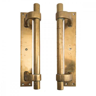 Original Art Deco Brass Door Pull Handles