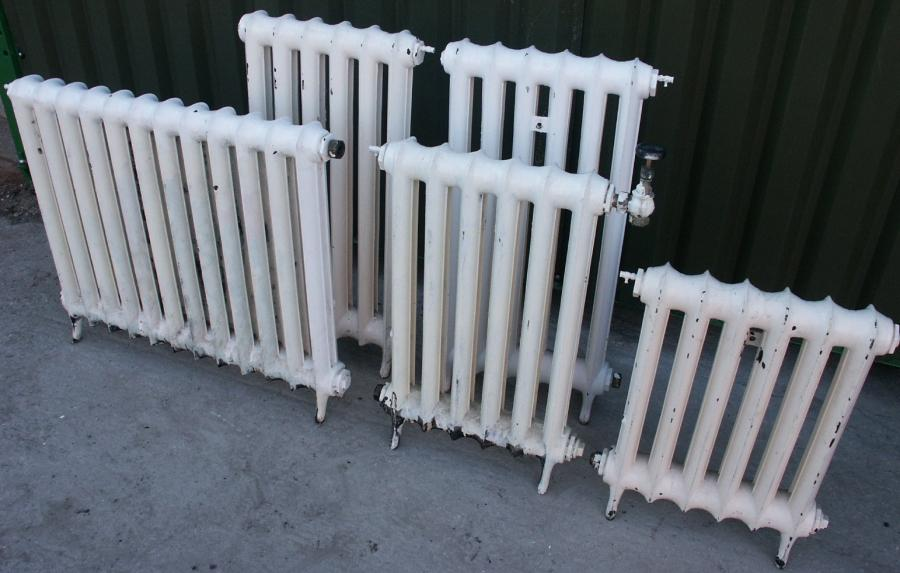 set of Duchess cast iron radiators
