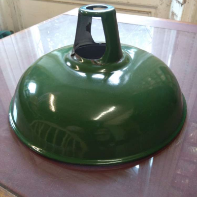 Green enamel light shade