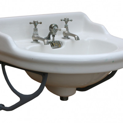 Late 19th Century French Basin / Sink With Wall Brackets