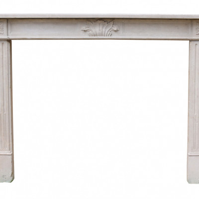 18th Century Louis Xvi Limestone Chimneypiece