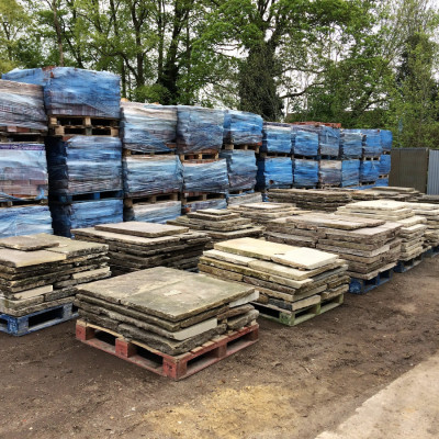 Quality Genuine Reclaimed Yorkstone Flags