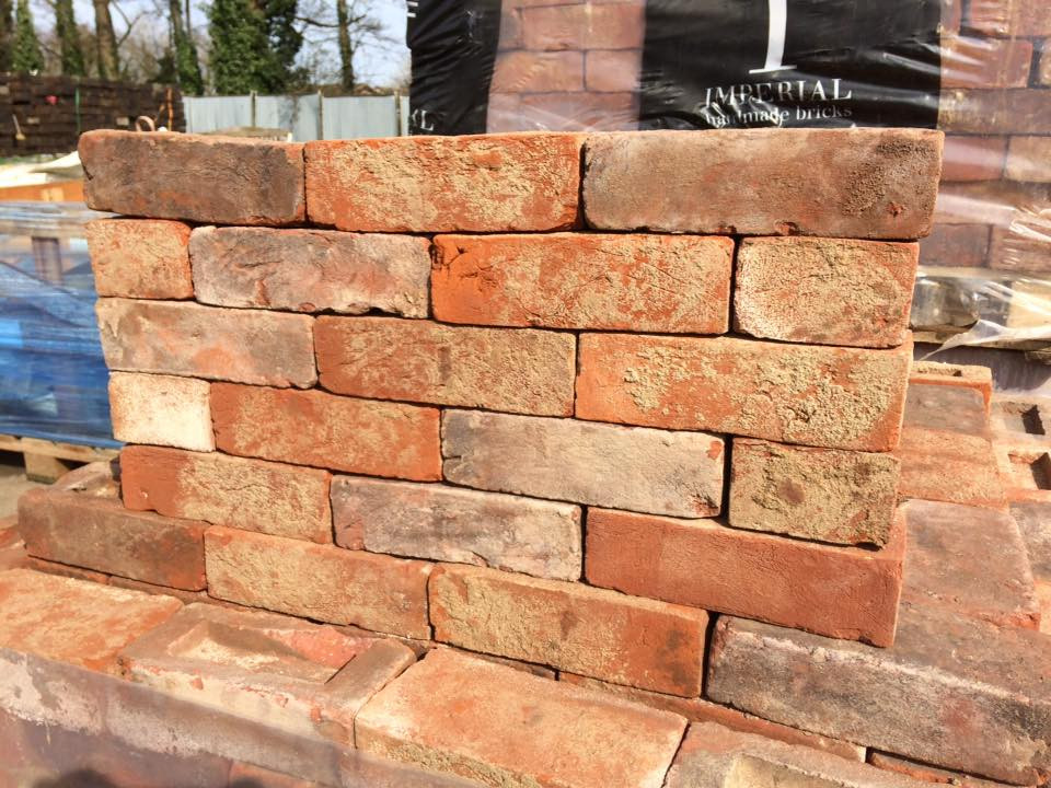 68mm Handmade Weathered Reclamation Style Soft Red Bricks
