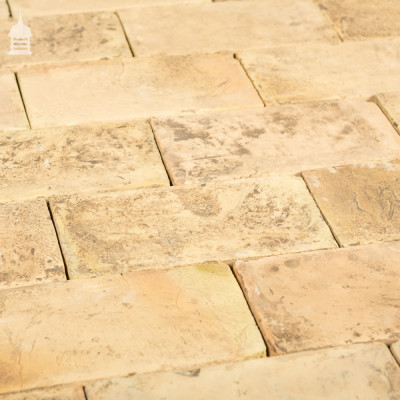 New Traditionally Handmade Buff Floorbricks with an Aged Finish