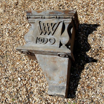 1909 Antique Lead Rainwater Hopper