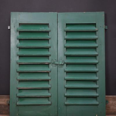 Green Louvred Shutters