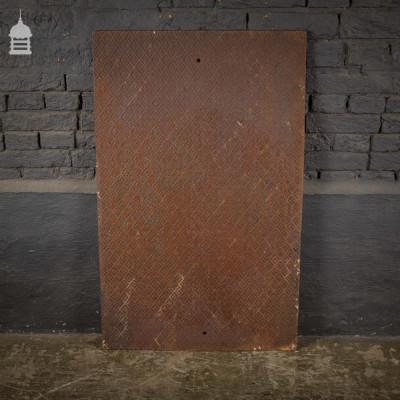 19th C Decorative Cast Iron Fireside Back with Diamond Pattern