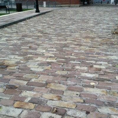 Sandstone Cobbles and Curbing