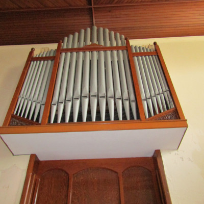 Victorian church organ fascia.