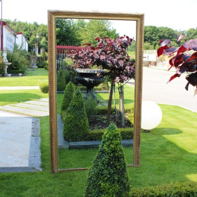 Miroir rectangle ancien, moulure doree - antique French mirror