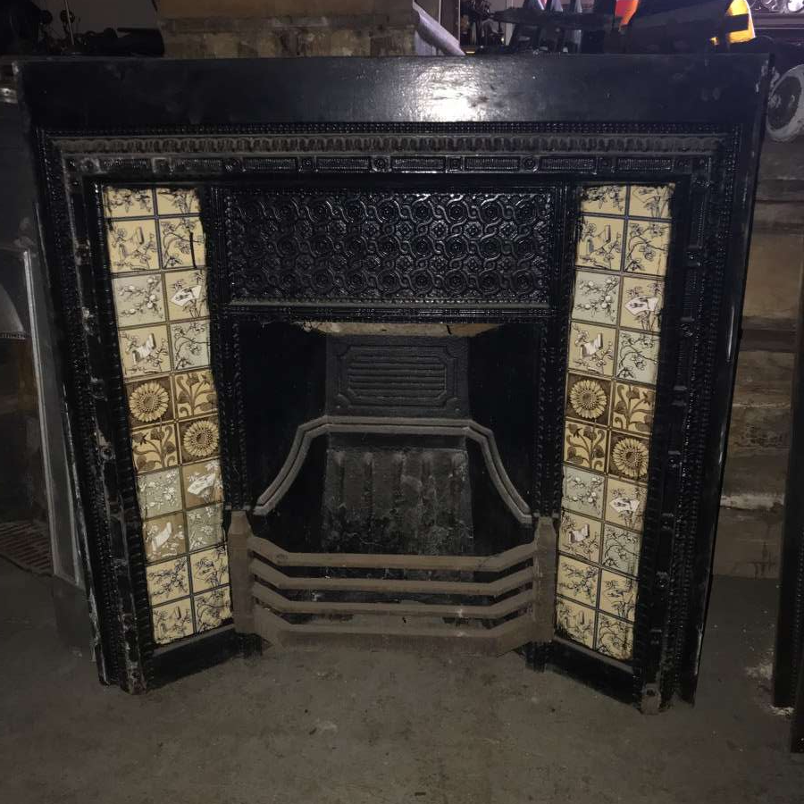 For Sale Cast Iron Fireplaces With Minton Tile Inserts Salvoweb Uk