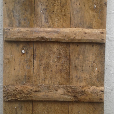 An early ledged elm door