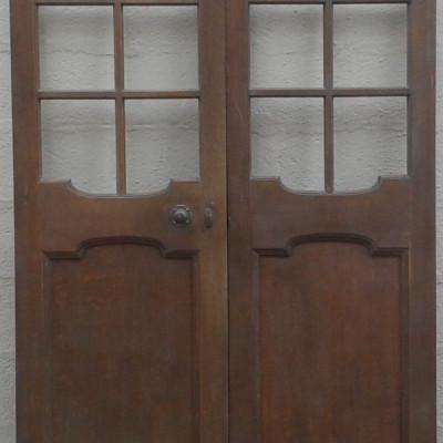 Antique oak double doors