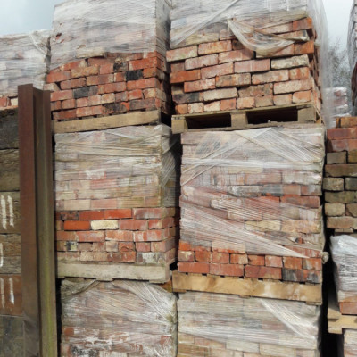 Cheshire Red Reclaimed Wirecut 70mm Bricks