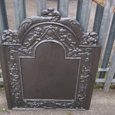 Victorian cast iron fireback