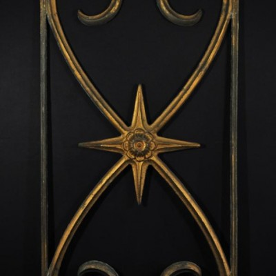 19th century cast iron decorative panel