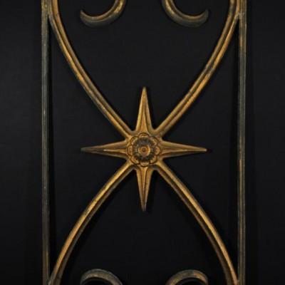 19th century cast iron decorative panel