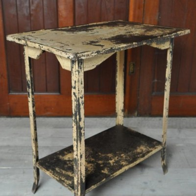 antique french steel side table