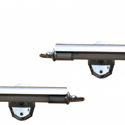 Pair Of Art Deco Chrome Light Fittings