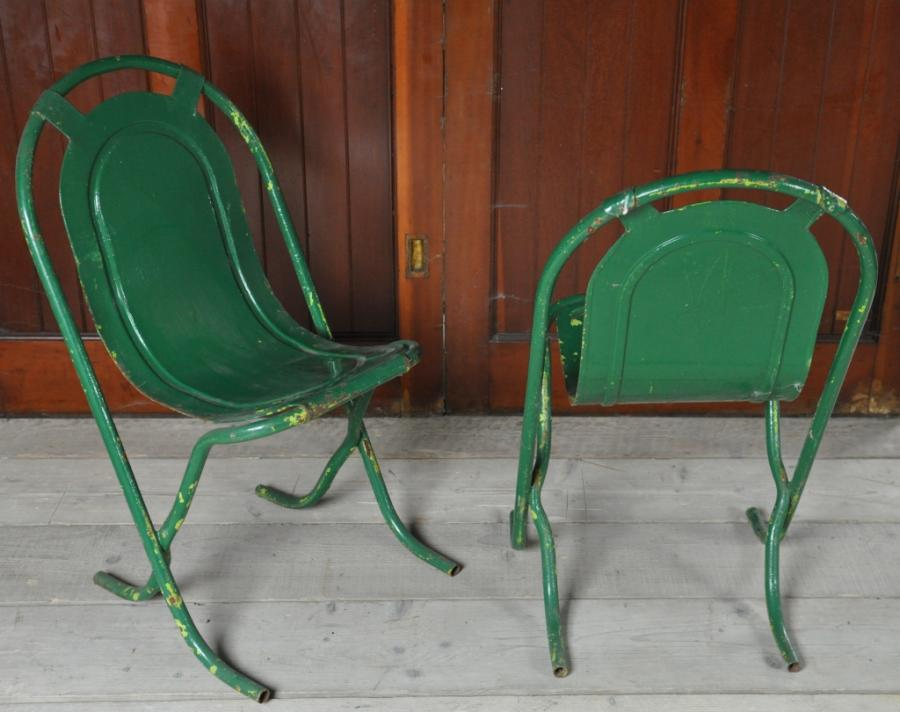 Antique steel Stak-a-Bye chairs 1950s