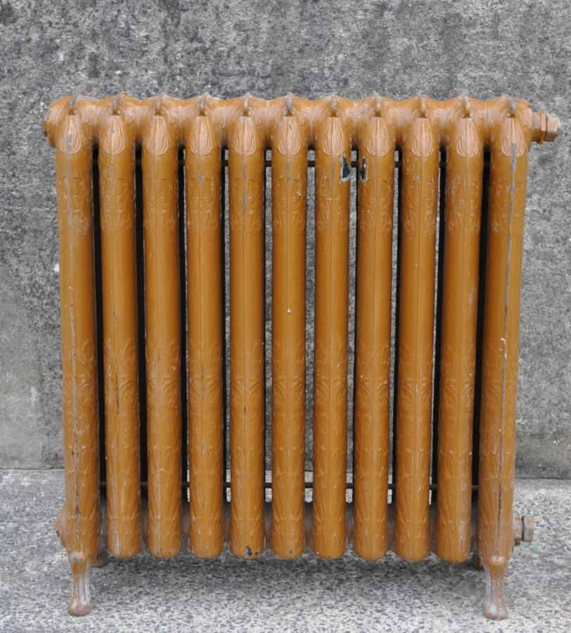 Deorative floral antique cast iron radiator - rare style - Duet
