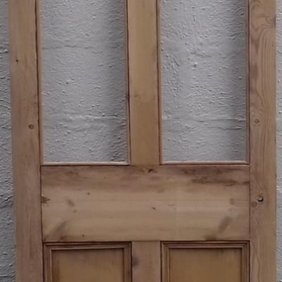 Victorian  part glazed pine door